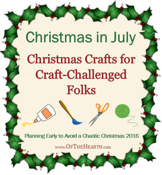 I'm pretty awful at crafts, yet I still want to make them. Here are simple Christmas crafts that even craft-challenged folks can successfully complete!