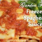 Garden Fresh Freezer Spaghetti Sauce
