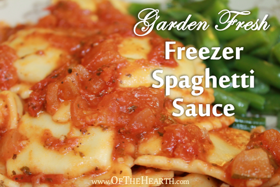 Easy-to-prepare Garden Fresh Spaghetti Sauce is a tasty way to use produce from your garden. Freeze portions to have delicious pasta sauce all winter long!