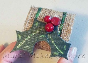 Holly Burlap Napkin Ring - Just Paint It