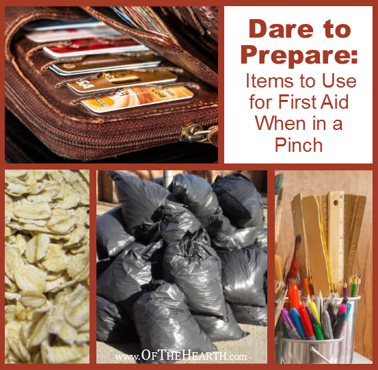 What can you do if your first aid kit does not contain adequate supplies to address an injury you experience? Here are 8 household items to use in a pinch.