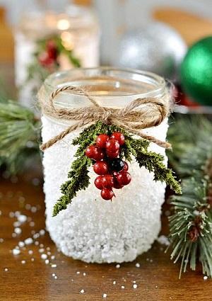 Snowy Mason Jar - DecoArt Blog