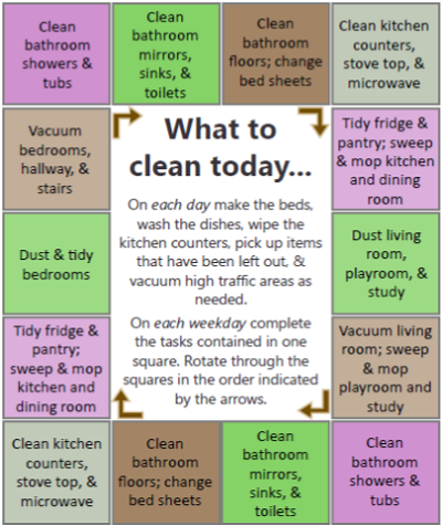 Daily Cleaning Schedule - Best Printables
