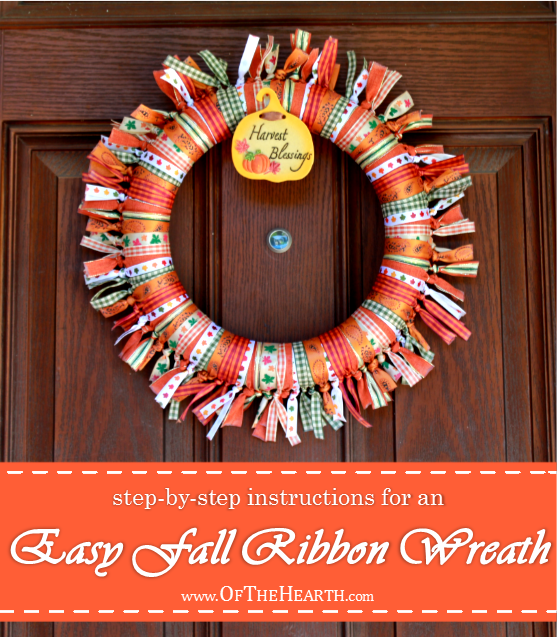 This festive fall ribbon wreath is both simple and lovely. Here are detailed instructions for how to make one for your home.