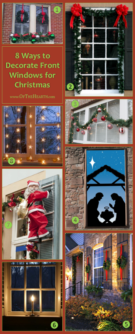 ways to decorate front windows for christmas
