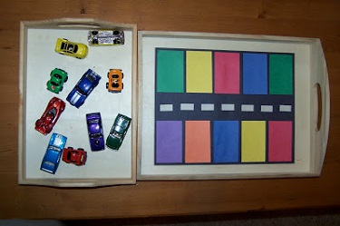 Color Match Car Parking – The Princess and the Tot