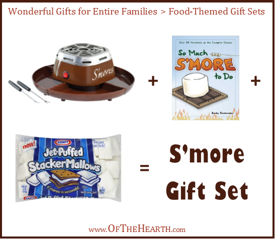 S'mores Gift Set | One way to give meaningful gifts while remaining in budget is to give gifts to family units. Here are over a dozen great family gift ideas.