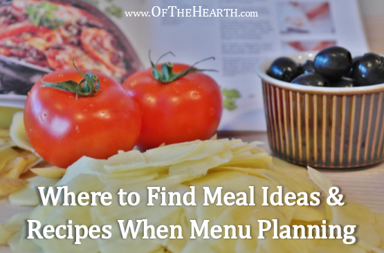 Stuck in a rut when it comes to menu planning? When I struggle to come up with new meal ideas, I turn to a few helpful resources.