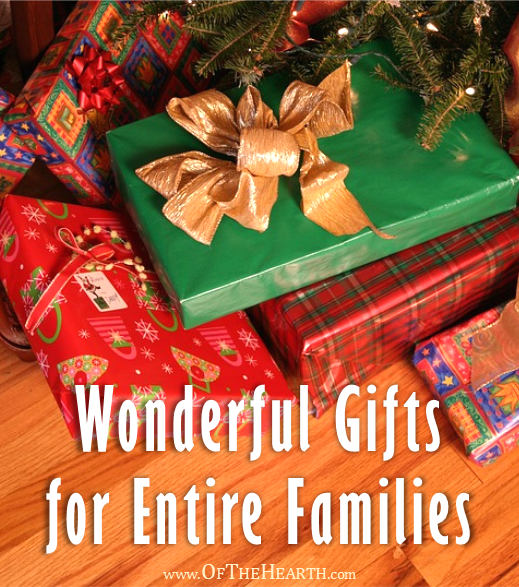 One way to give meaningful gifts while remaining in budget is to give gifts to family units. Here are over a dozen great family gift ideas.