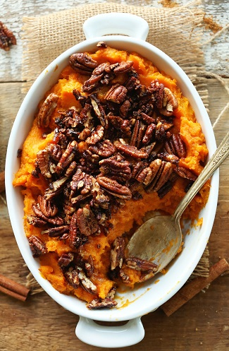 Butternut Pecan Sweet Potato Mash from Minimalist Baker