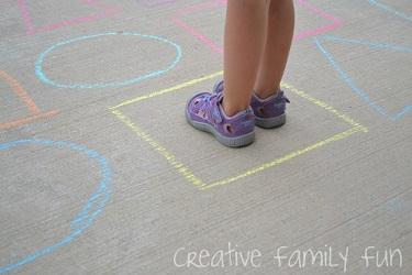 Driveway Shape Maze from Creative Family Fun