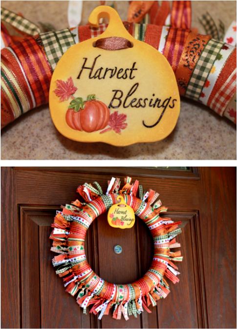 Easy Fall Ribbon Wreath