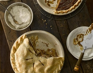 Maple-Ginger Apple Pie from Eating Well