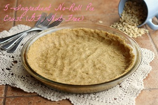 No-Roll Pie Crust (made with oats) from Oatmeal with a Fork