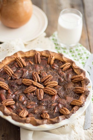 Paleo Pecan Pie from The Healthy Foodie