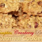 Pumpkin Cranberry Pecan Oatmeal Cookies