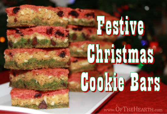 Festive Christmas Cookie Bars