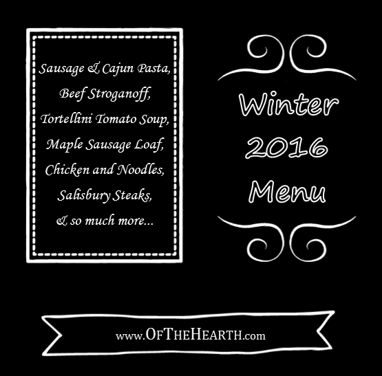 Winter 2016 Menu