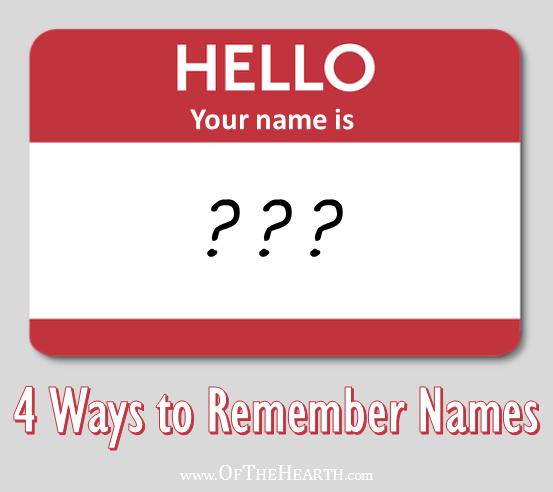 It really means something to a person when you remember his or her name. How can you do this when you are bad with names? Here are 4 easy approaches.