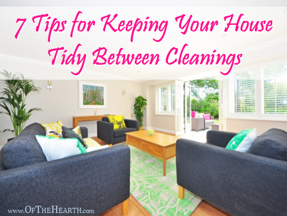 Our homes can get a little messy in between cleanings. What can we do to keep them tidy? Here are 7 useful strategies.