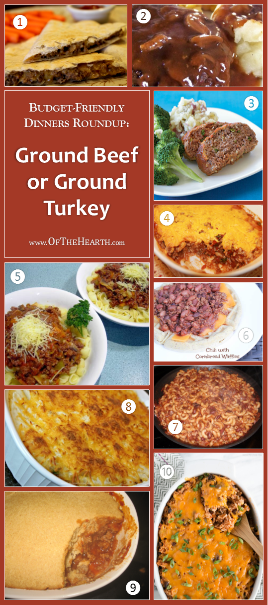 Budget-Friendly Dinners – Ground Beef or Ground Turkey