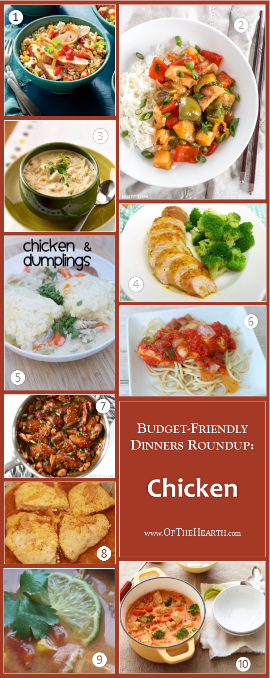 Budget-Friendly Dinners - Chicken