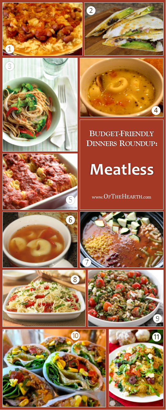 Budget-Friendly Dinners - Meatless