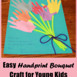 Easy Handprint Bouquet Craft for Young Kids