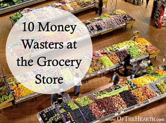 There are numerous money wasters lurking at the grocery store. Here are 10 of these and their budget-friendly alternatives.