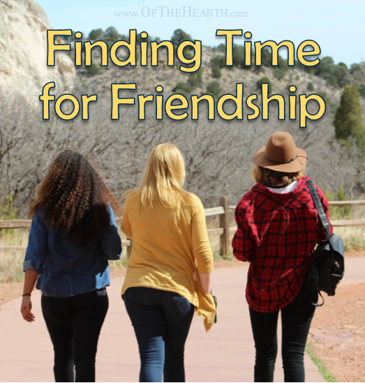 When we're busy, our friendships often fall to the wayside. How can we find time in our busy days for friends? Here are some ideas.