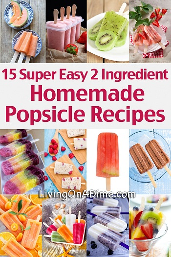 15 Super Easy 2 Ingredient Homemade Popsicle Recipes from Living on a Dime