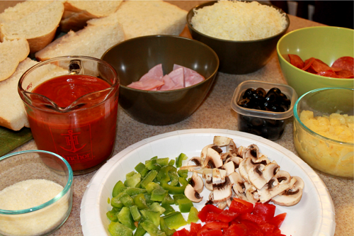French bread pizza toppings