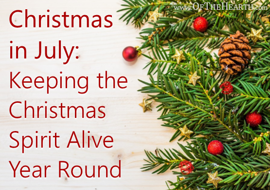 Around Christmas, we're more worshipful and our interactions are infused with joy and