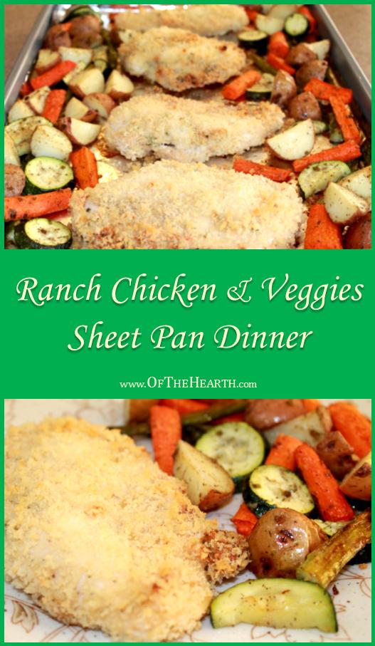 Ranch Chicken and Veggies Sheet Pan Dinner