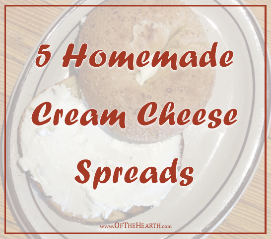 Using ingredients you have on hand at home, you can make flavored cream cheese spreads that are affordable and yummy! Here are five delicious varieties.