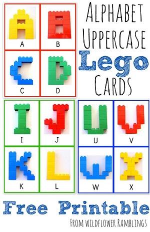 Alphabet Lego Cards - Wildflower Ramblings