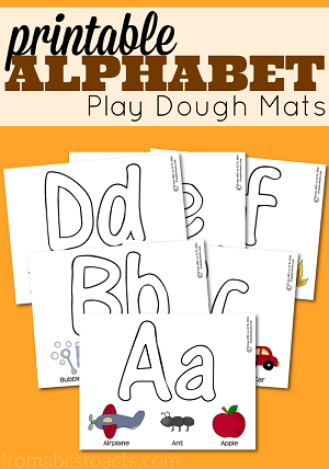 Alphabet Play Dough Mats - From ABCs to ACTs