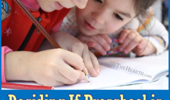 Deciding If Preschool is Right for Your Child