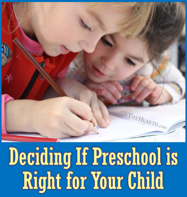 Should I enroll my child in preschool? Here are four important factors to consider when answering this question.