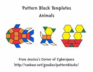 Pattern Block Templates - Jessicas Corner of Cyberspace