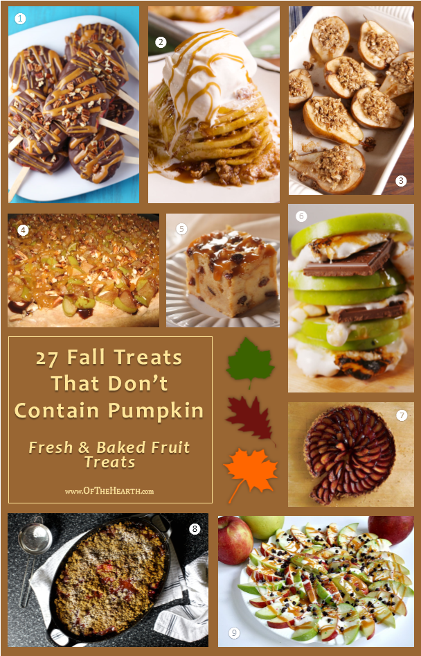 Step aside pumpkin! From Apple Nachos to Sweet Potato Snickerdoodles, here are 27 recipes that feature delicious fall flavors other than pumpkin.