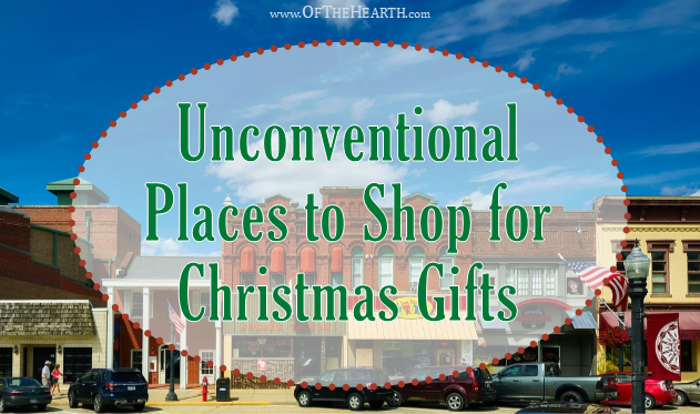 From craft fairs to thrift stores, there are numerous unconventional places where we can shop to find the perfect Christmas gifts.
