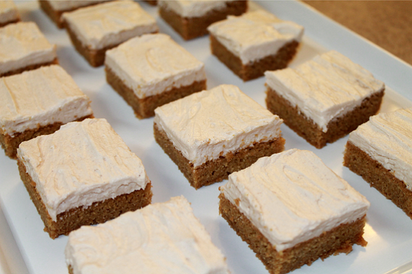 Brown Sugar Cookie Bars with Maple Cinnamon Frosting recipe