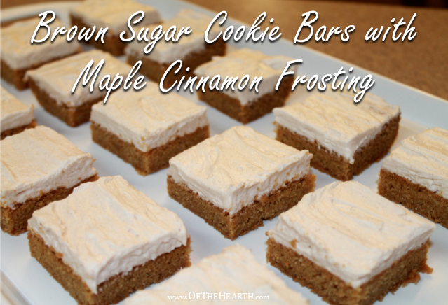 Maple cinnamon frosting atop a brown sugar cookie? Yes, please! You and your loved ones will adore the divine flavor of these cookie bars.