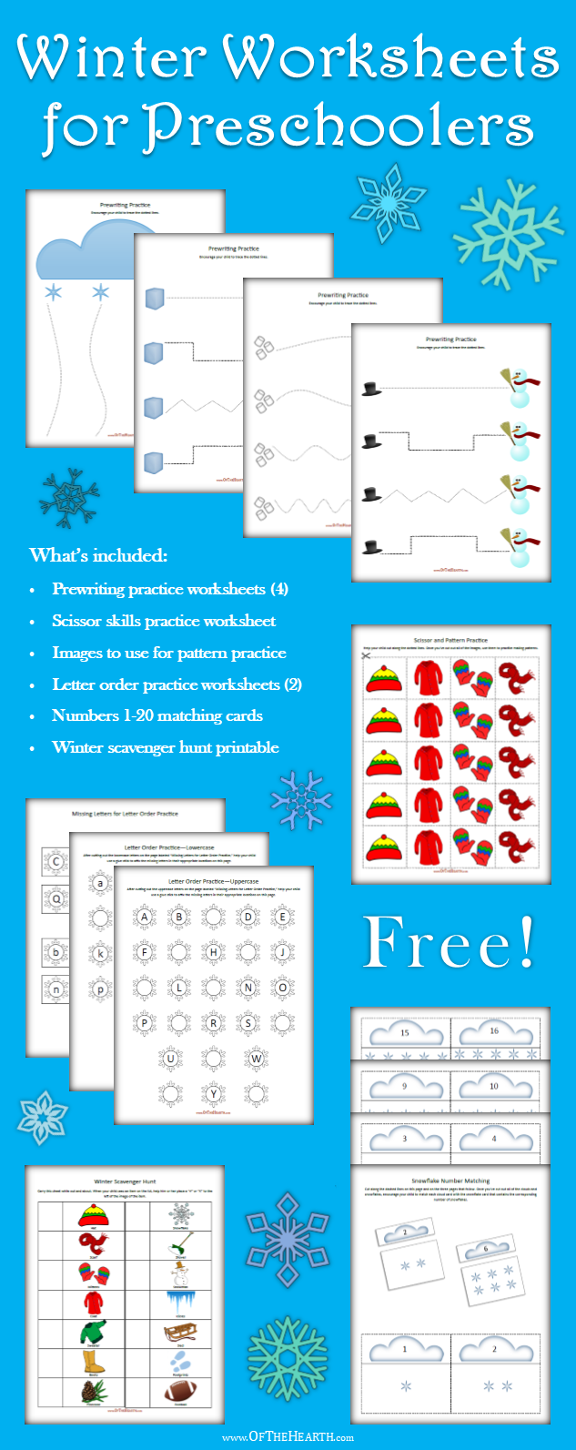 Engage your preschooler's curiosity with winter-themed worksheets and activities! Get started on the fun and learning by printing a free copy today.