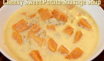 Cheesy Sweet Potato Sausage Soup