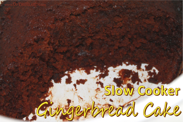 You'll love the rich, spicy-sweet flavor of this Gingerbread Cake that is conveniently prepared in a slow cooker!