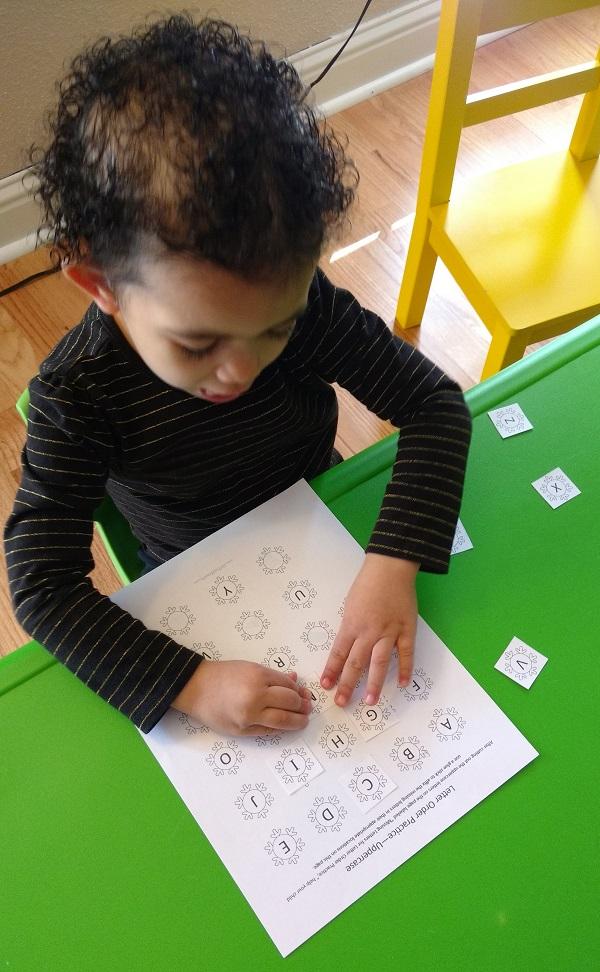 Winter Worksheets for Preschoolers - Letter Order Practice Worksheets