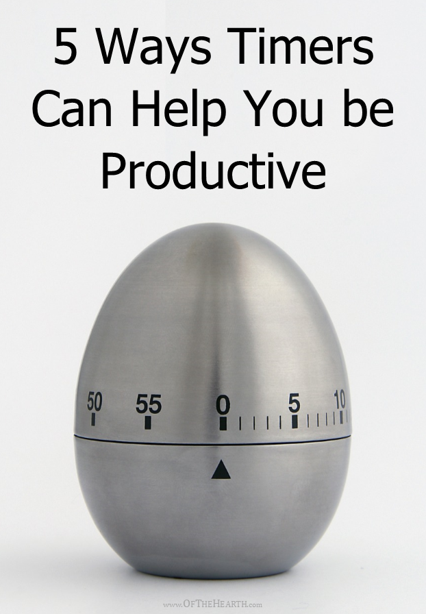Timers can help us stay on track and get tasks checked off our to-do lists. Here are five useful ways timers can increase our productivity.
