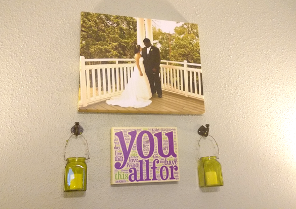 Wedding Vow Word Cloud on wall